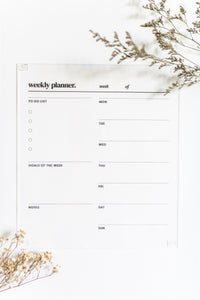 Acrylic Daily Planner