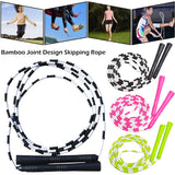 Non-slip handle beaded jump rope rope
