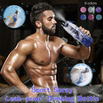 Plastic Mist Spray Sport Water Bottle