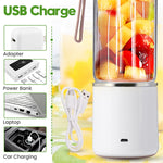 Electric Fruit Juicer Glass Mini Hand Portable Smoothie Maker