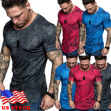 Men's Gym T-Shirt Trendy Slim Fit