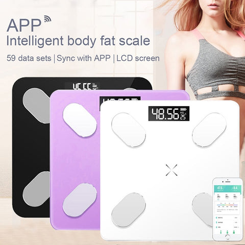 Smart Body Fat Scale LCD Digital Wireless Bluetooth