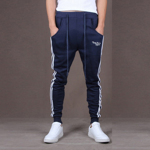 Men's solid color training trousers