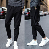 Mens Solid Drawstring Pocket Pants