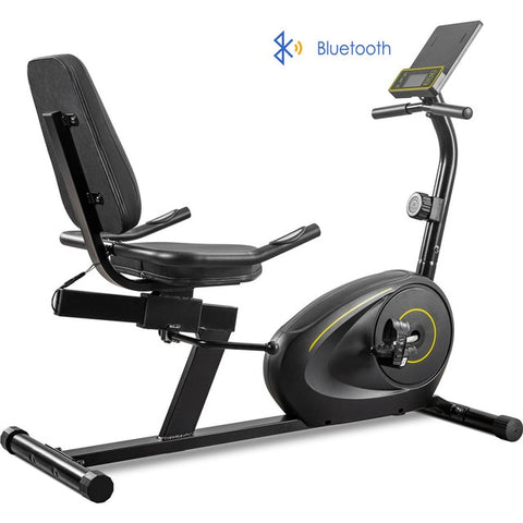 Recumbent Bike with Bluetooth Monitor, 380lb Weight Capacity