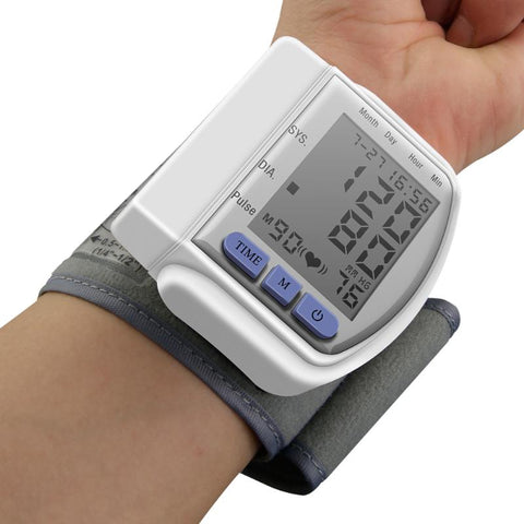 Digital LCD Wrist Blood Pressure Monitor