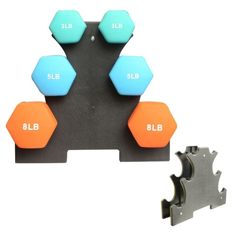 Dumbbell Rack Holds 3 sets various styles