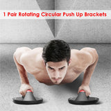 2x Rotating Push Up Brackets Non Slip Grip