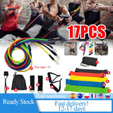 17 Pcs/Set Latex Resistance Bands Tubes with Bag