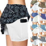 Print Breathable Pockets Skort