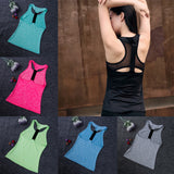 Gym Tank Vest Top Fast Dry Wicking Sports Bra 7 colors