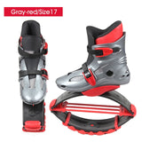 Kangaroo Jump Shoes Gray-red