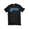 Los Angeles Levels Black & Sky Blue T-Shirt