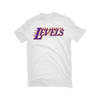 Los Angeles Levels White Purple & Gold T-Shirt