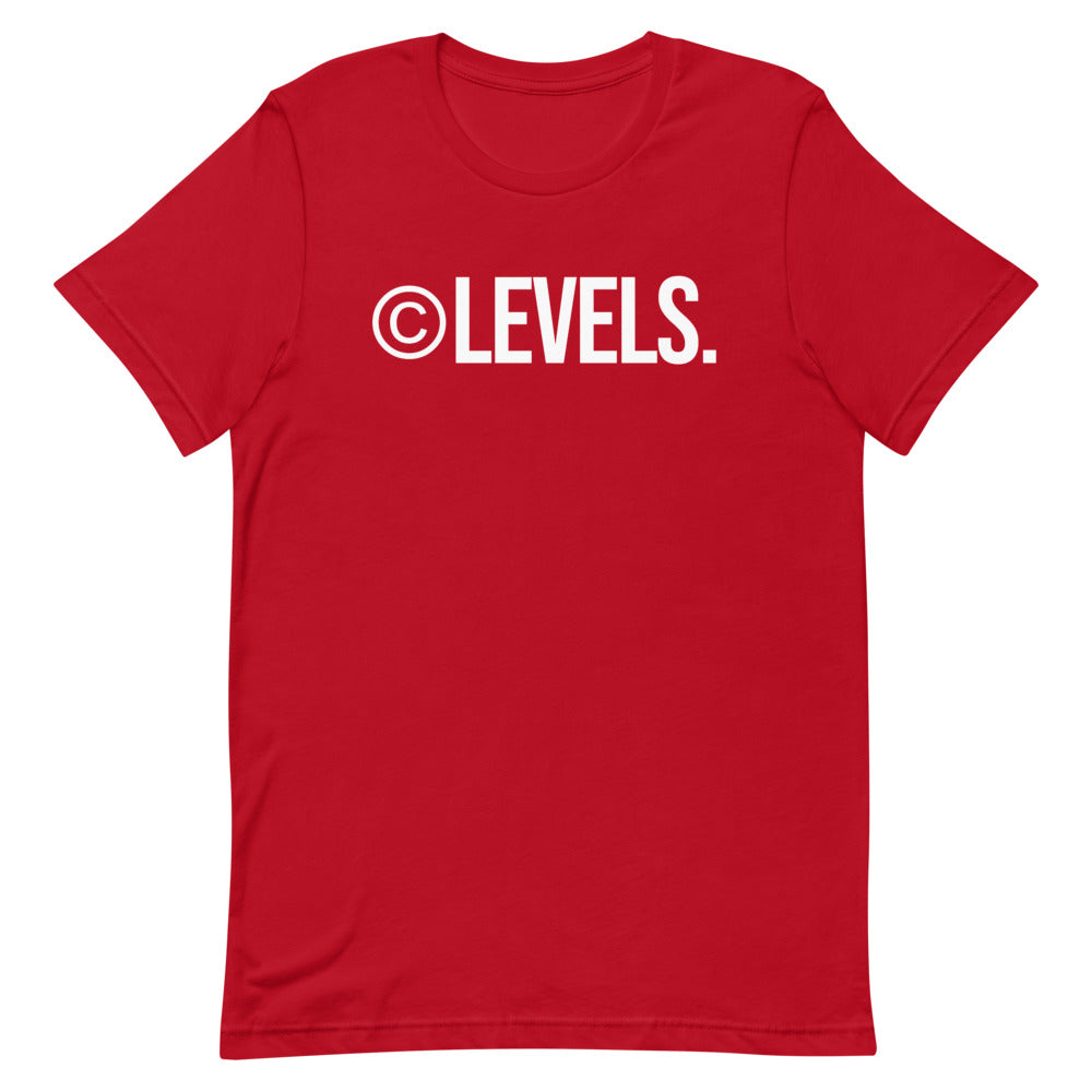 Red/White ©LEVELS. T-Shirt