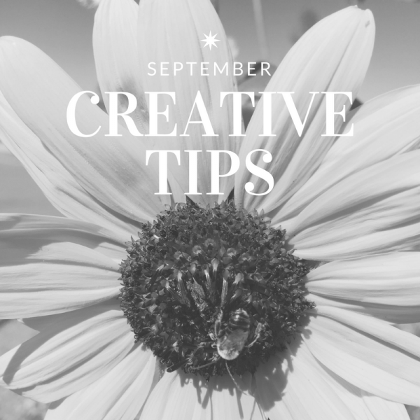 September Creativity Tips - Starting a Personal Project