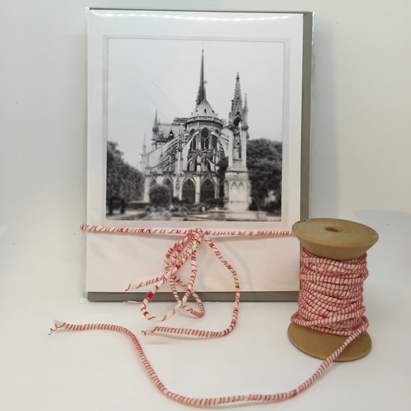 A2 folded card - package of 5 - notre dame