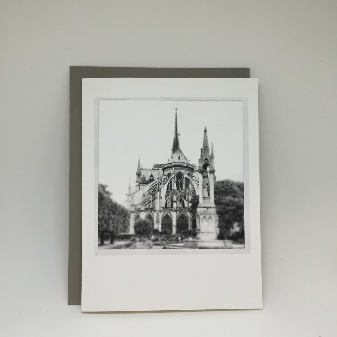 A2 Folded Card - notre dame (best seller)