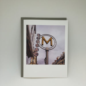 A2 Folded Card - yellow metro