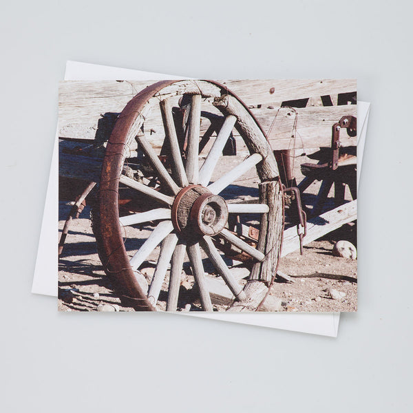 A2 Flat Card - Wagon Wheel