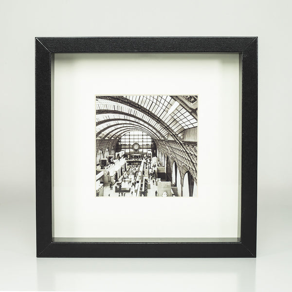9 x 9 framed photograph: Interior Musee D'Orsay