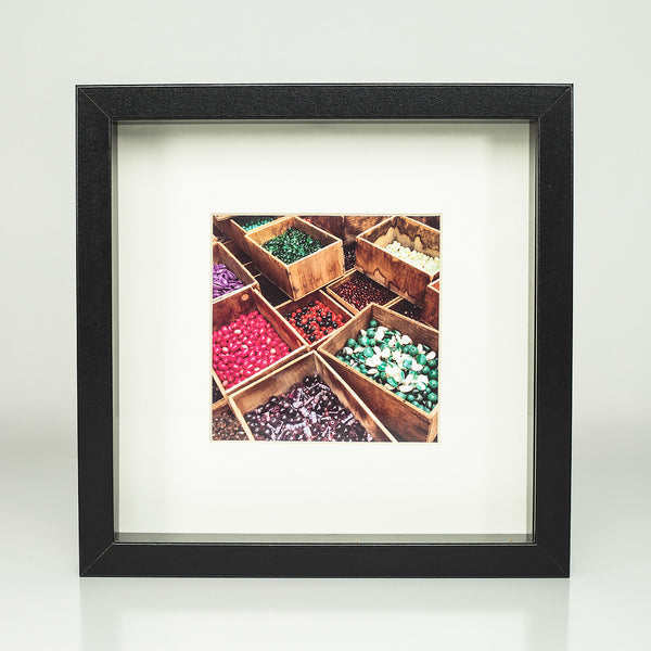 9 x 9 framed photograph: Color