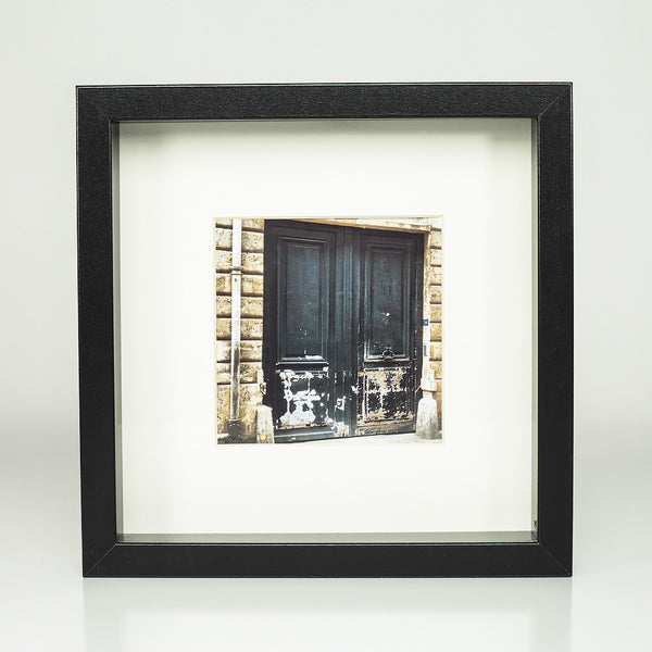 9 x 9 framed photograph: Doors of Paris