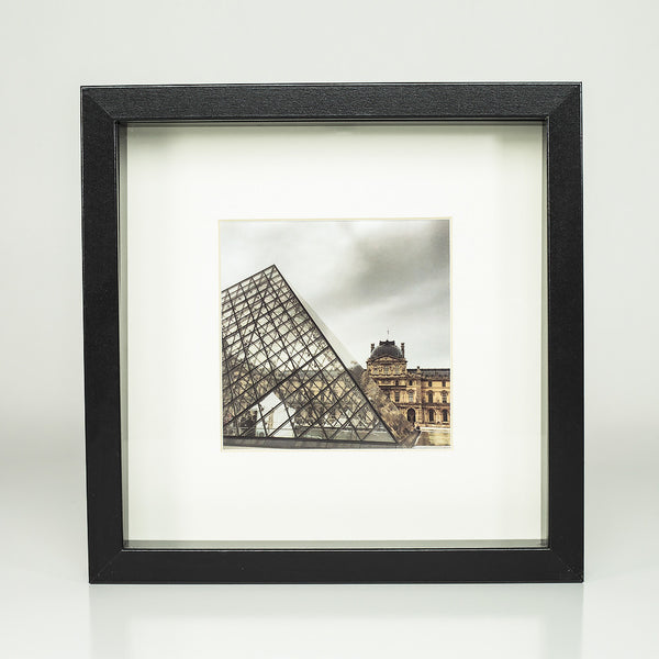 9 x 9 framed photograph: The Louvre