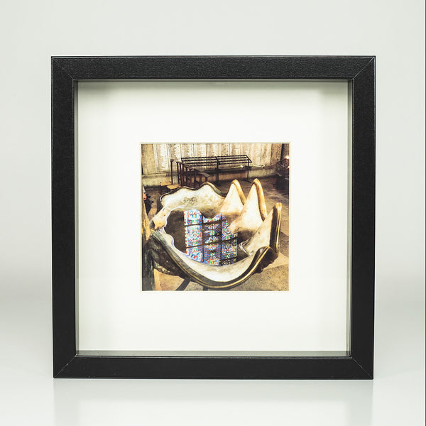 9 x 9 framed photograph: Reflections