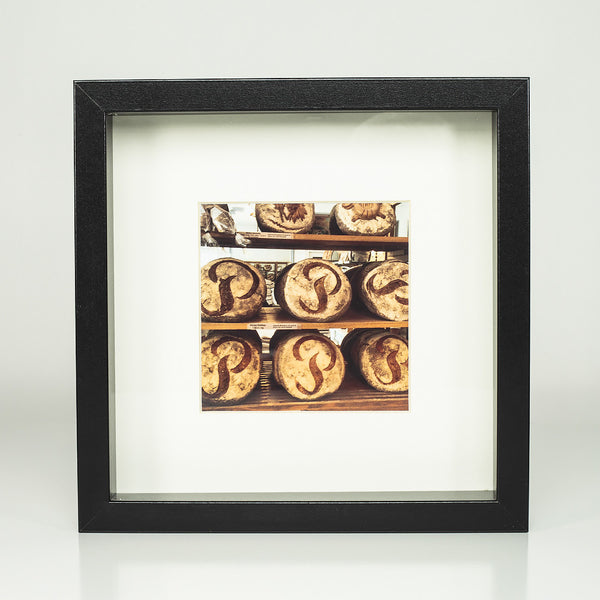 9 x 9 framed photograph: Bread