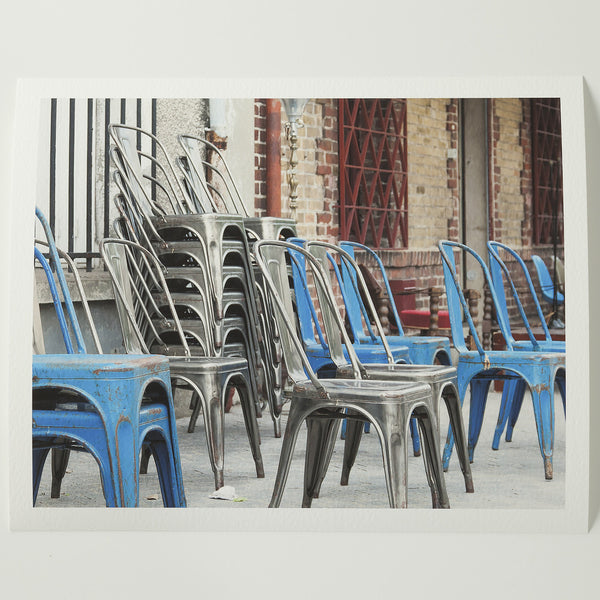 8 x 10 photography: Blue Chairs