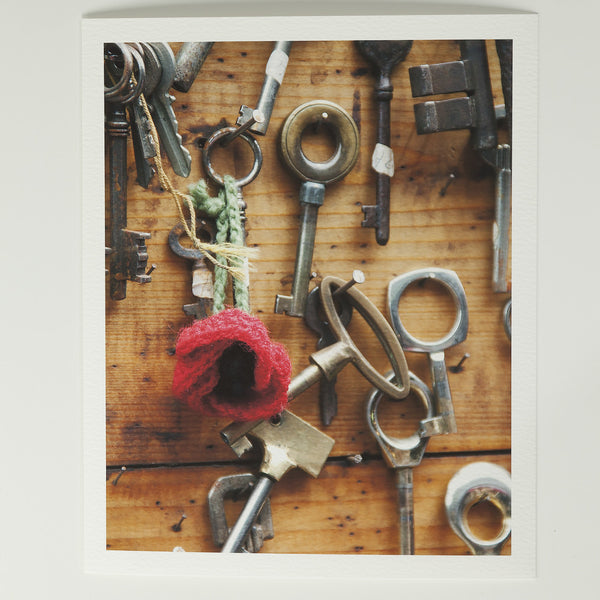 8x10 Photography: Poppies and Keys