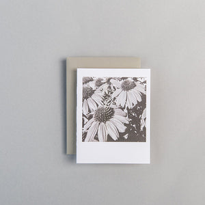 A2 Folded Card - red flowers