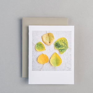 A2 Folded Card - first signs of fall