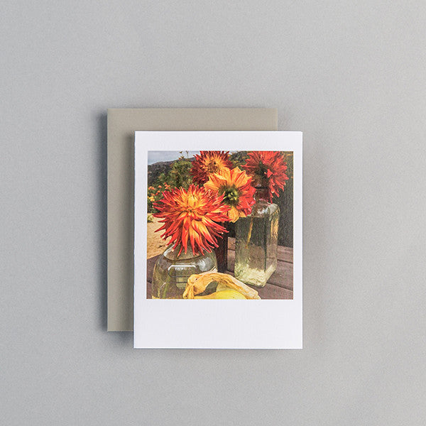 A2 Folded Card - organic flowers