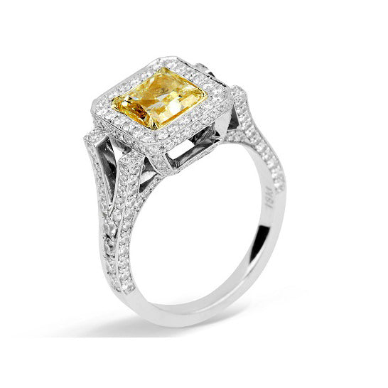 Juliette Radiant Square Cocktail Ring