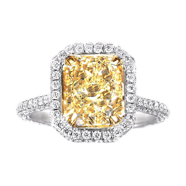 Lily Radiant Cut Pave Ring