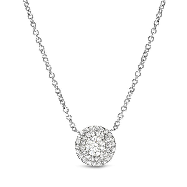 Layla Double Row White Gold Pendant