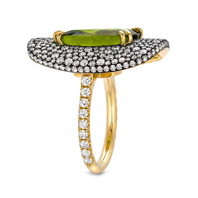 Olivia Peridot Cushion Cocktail Ring