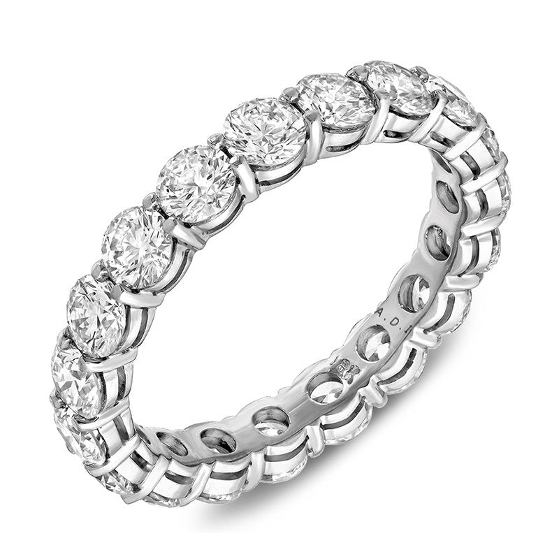 White Gold Open Gallery Eternity Band