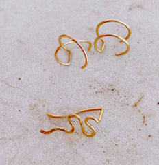 Handmade Lulinashop earrings inspired by nature and geometric shapes