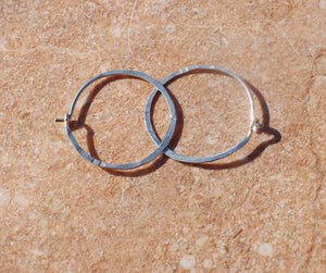 Boho hoop earrings medium