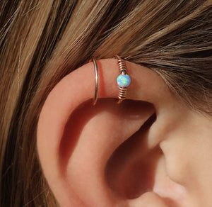 Mirage ear cuff Rose gold