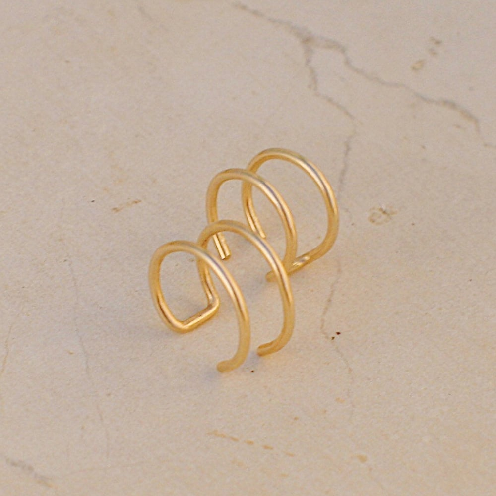 Double ear cuff, set of two or single