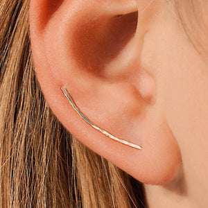 Seraphine ear climbers - gold 30 mm