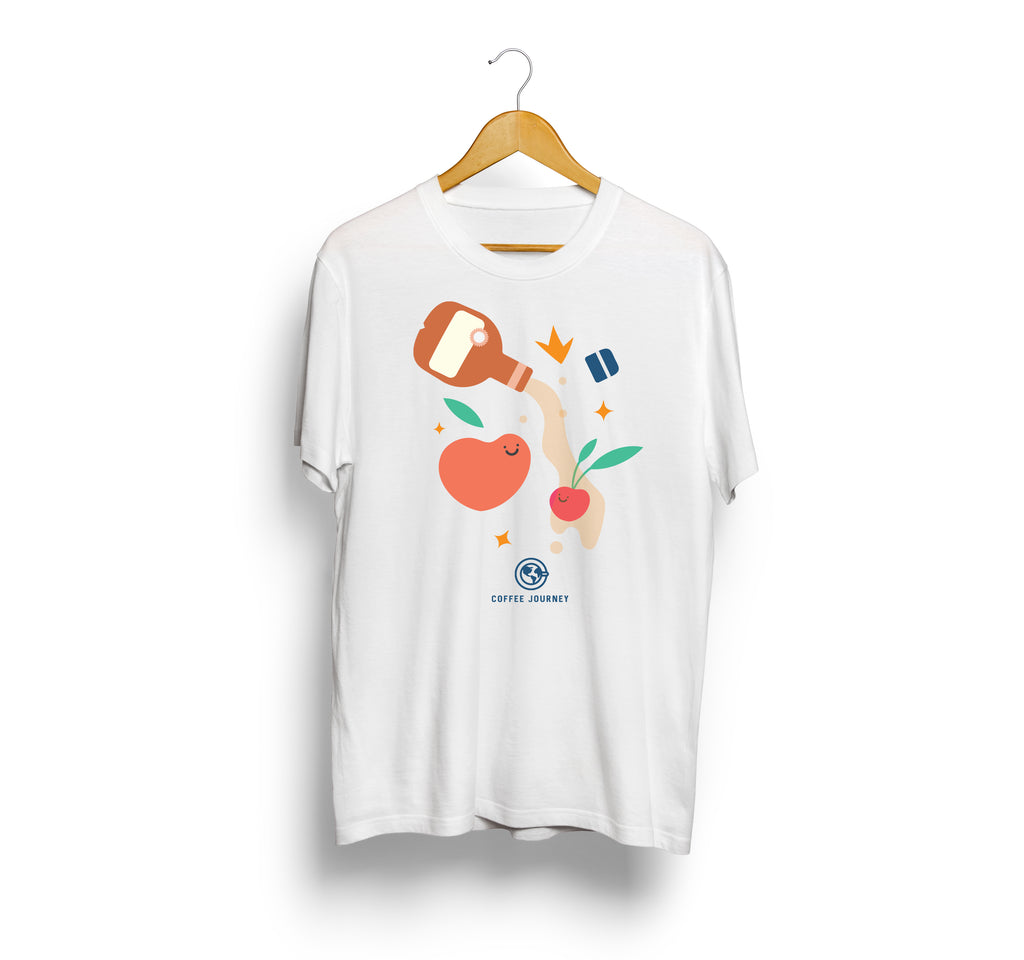Coffee Journey T-Shirt - Cherry