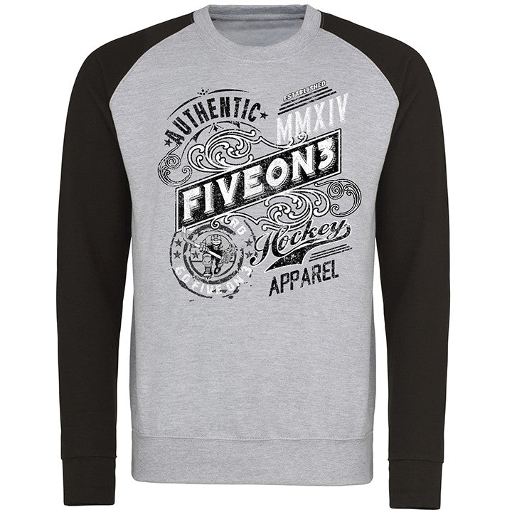 Authentic Five On 3 Baseball Sweater