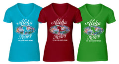 Aloha Hockey ladies fashion vee neck coloured t shirt