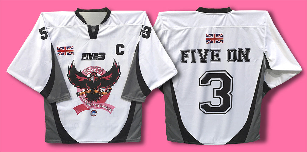 Five On 3 Breast Cancer Hockey Jersey