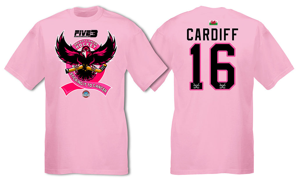 Breast Cancer Hockey T Shirt (Cardiff)